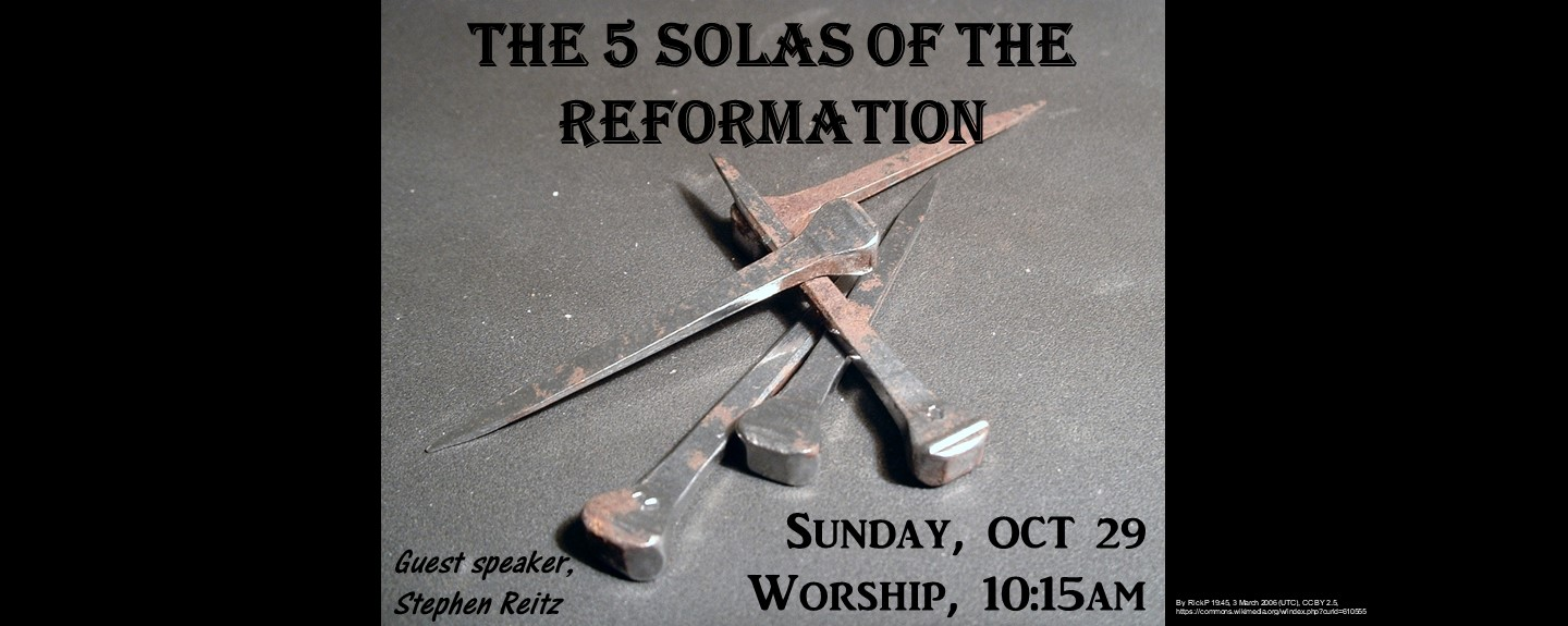 Soli Deo Gloria - The 5 Solas of the Reformation